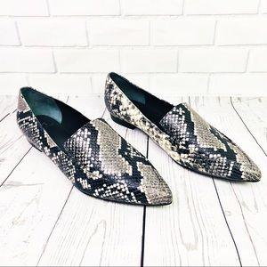 Marc Fisher Snakeskin Zurri Ponty Toe Loafer